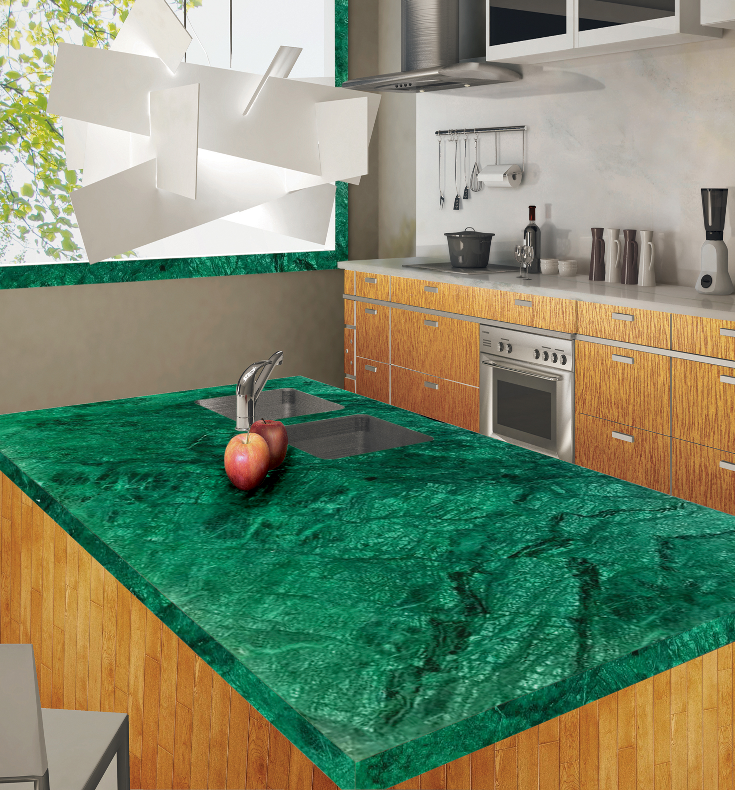 Slabs - Green Marble